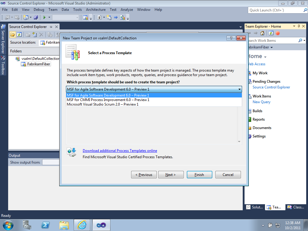 Tfs11 Process Templates Included In Team Foundation Server 11 El