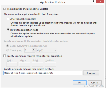 AZURE] HowTo: Publish a #ClickOnce application using and