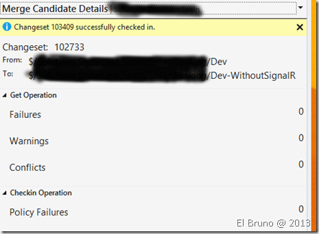 VS2013] Team Explorer Auto Associate Merge – El Bruno