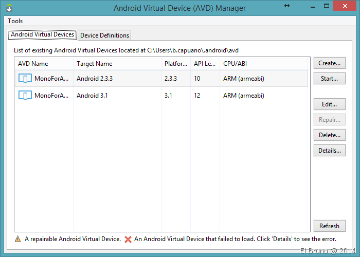 XAMARIN] Updating #Android emulators to work with