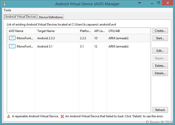 XAMARIN] Updating #Android emulators to work with #VisualStudio and
