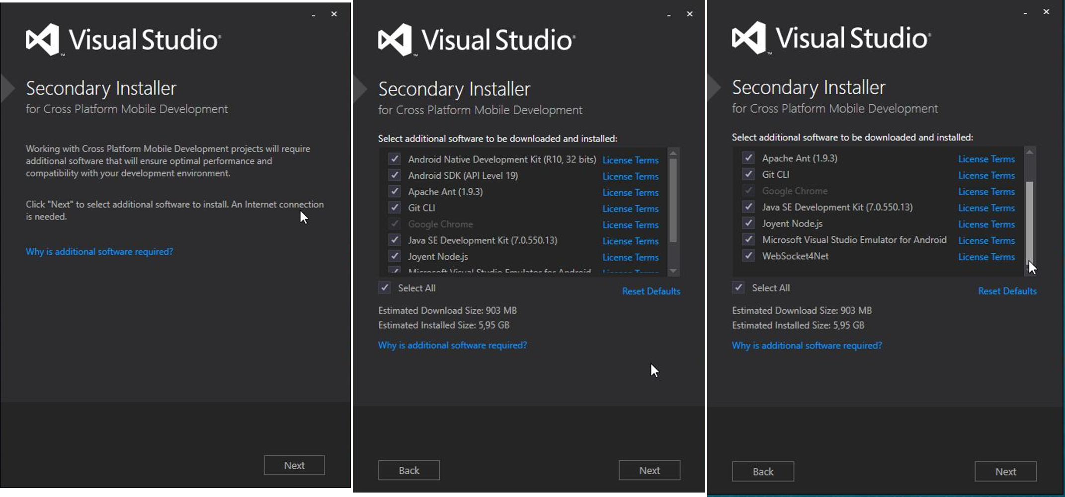 VS2015] Where are Cross Platform installers? (patience patience