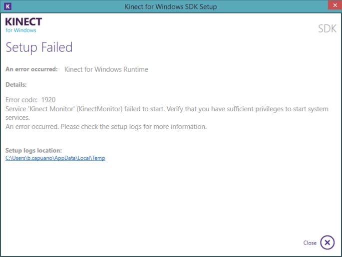 error Kinect 01