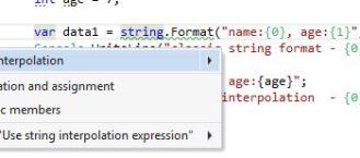 VS2015] String Interpolation vs String Format (your team will love
