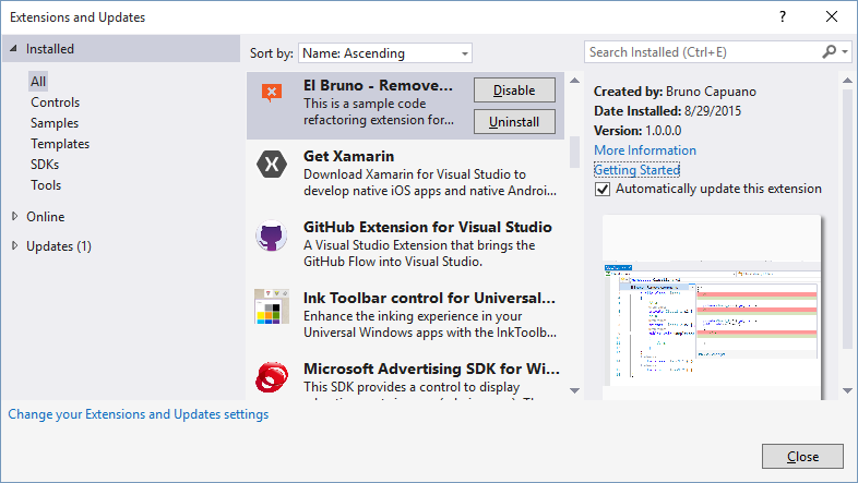 VS2015 – Create a #Vsix installer for the Delete all