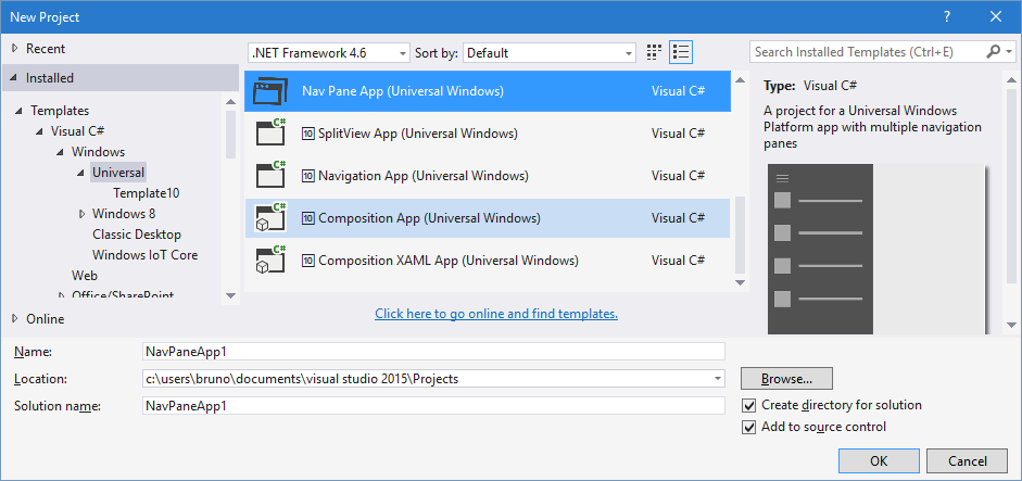 VSGALLERY – Template to quickly create a #Windows10 Universal App ...