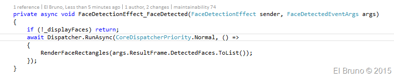 VS2015 – Windows Universal sample App using #FaceDetection native