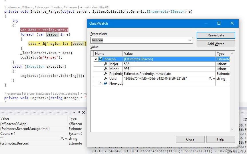 XAMARIN] Using and detecting #Estimote Virtual #eBeacons
