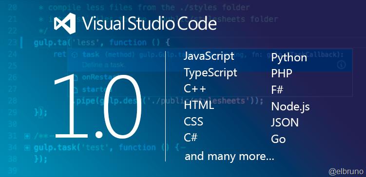 VisualStudio – Visual Code 1 0 Released ! – El Bruno