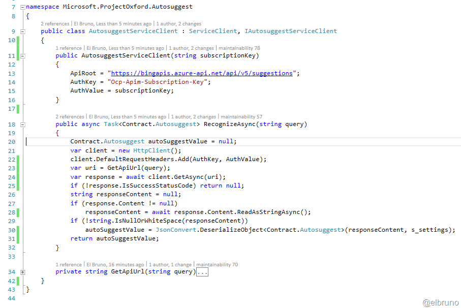 CognitiveServices–#Bing Autosuggest API, cool new feature and some ...