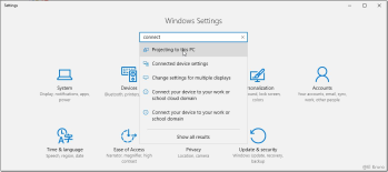 Windows10 – Using your station as #Miracast TV with the new Connect