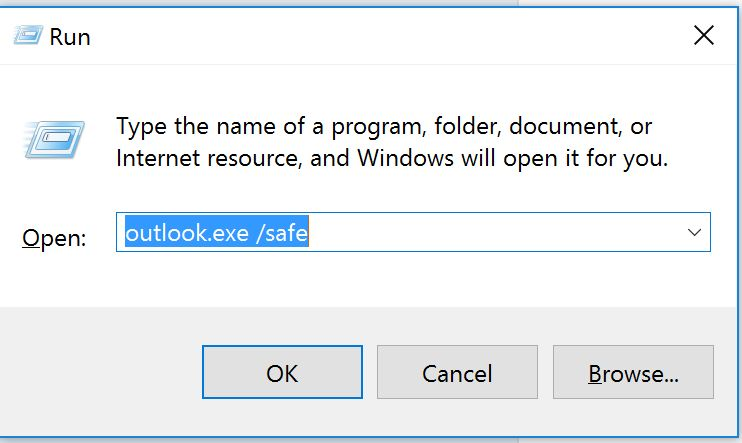 Image result for open Outlook in safe mode