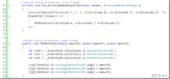 Myo – Working with the Orientation and Gyroscope in c# – El Bruno