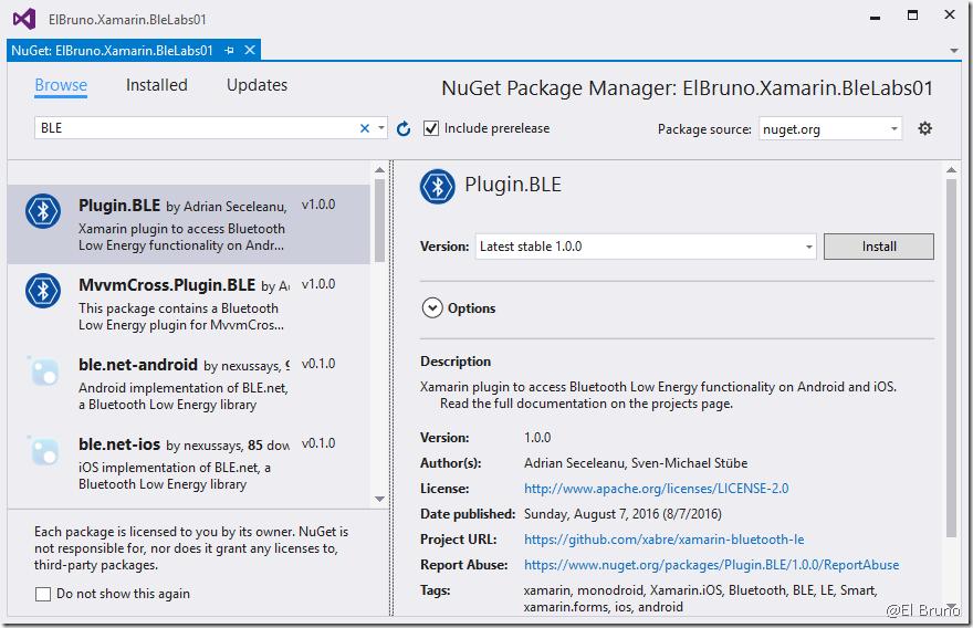 Xamarin – #Bluetooth LE plugin version 1 0 (Monkey Robotics finally