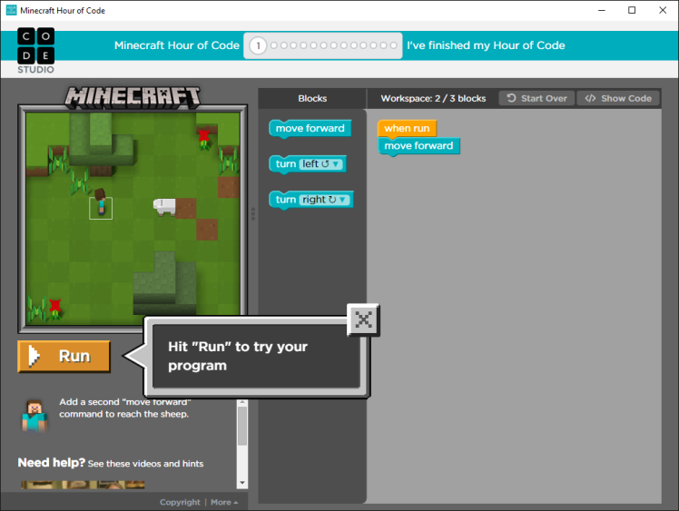 HourOfCode – #MineCraft time again and now also #Designer