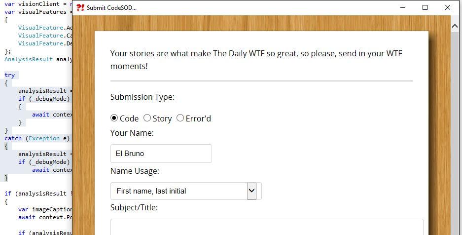 """#VS2015 – Publicar en """"The Daily WTF"""" directamente desde Visual Studio – El Bruno"""
