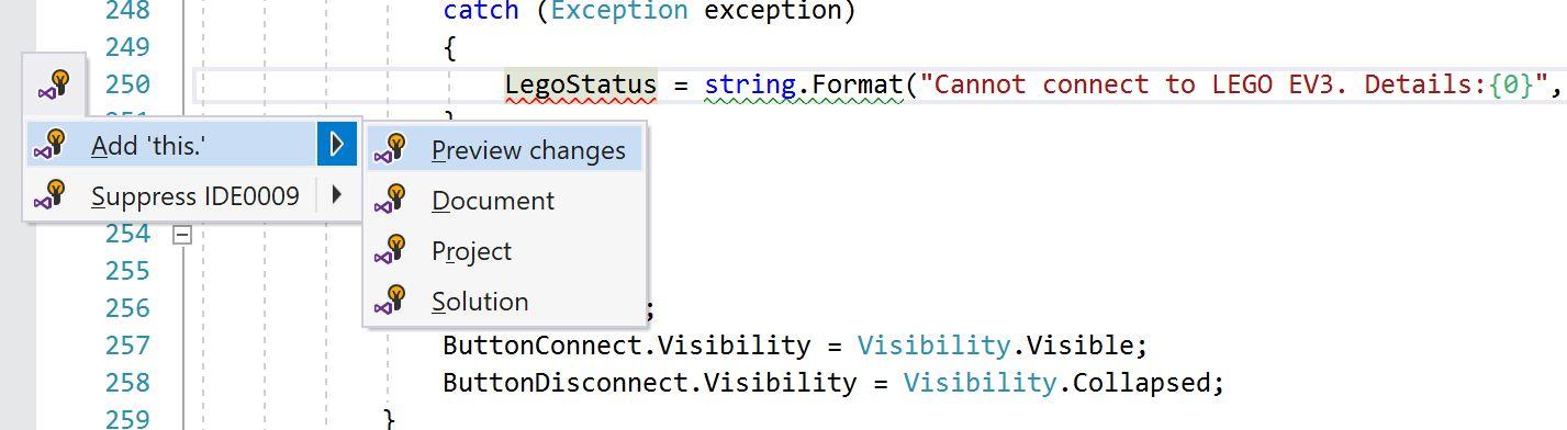 VS2017 – Code Style configuration in Visual Studio 2017 IDE