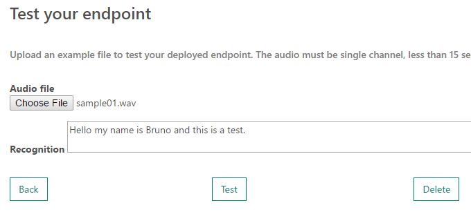 Create a custom speech endpoint with Custom Speech Service on     Custom Speech Service                Azure