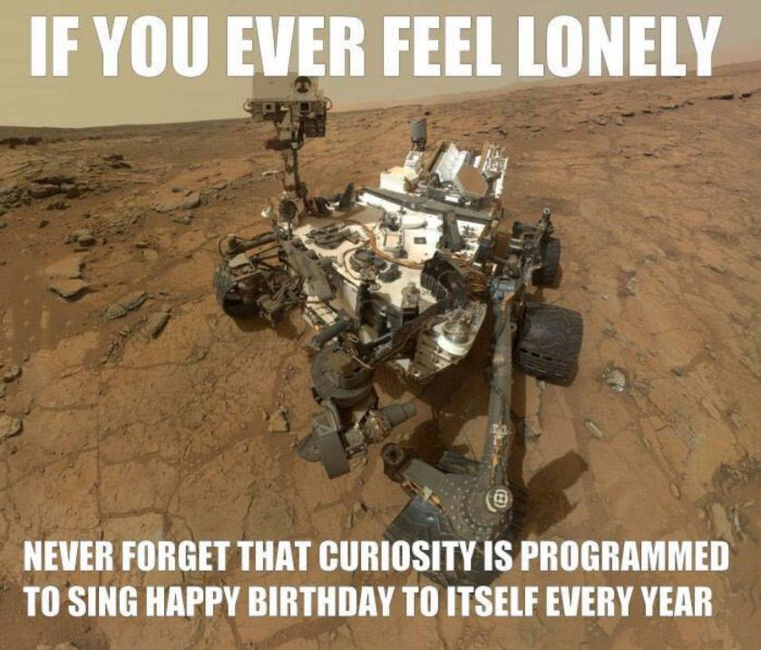 if you ever feel loney mars rover
