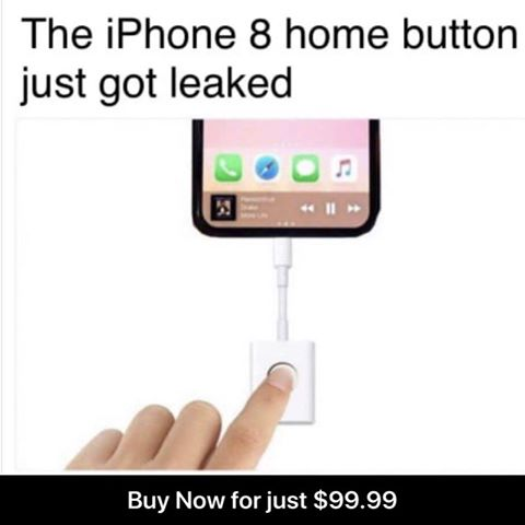 ihpone 8 home button leak