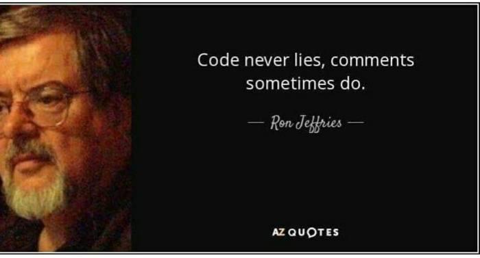 code never lies