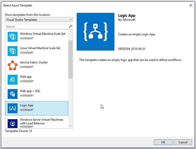 LogicApps – Working with Visual Studio 2017 and Logic Apps
