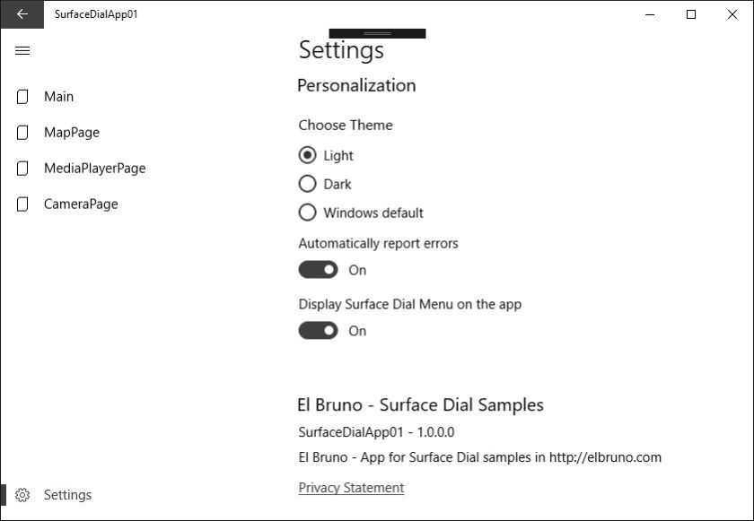 Windows10 Disable The Surfacedial Global Menu In A Uwp