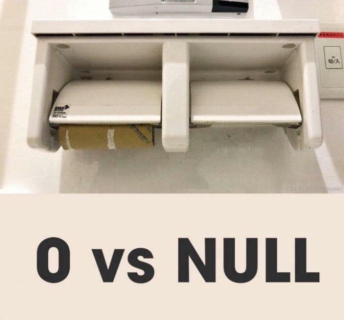 0 vs null