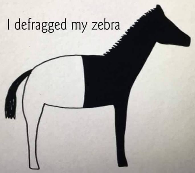 I deafragged my zebra