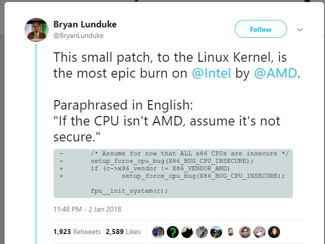 Amd Vs Intel Linux 2018