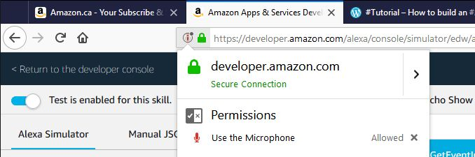 Tutorial – How to build an #Amazon #AlexaSkill using Visual