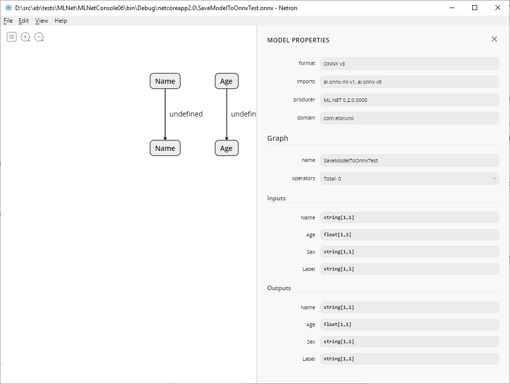 MLNET – Export Machine Learning Net models to #ONNX format