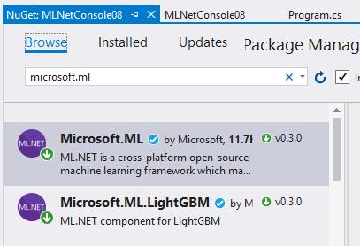 MLNET – Error 'Entry point 'Trainers LightGbmClassifier' not found