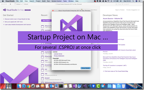 StartupProjectOnMac for multiprojects