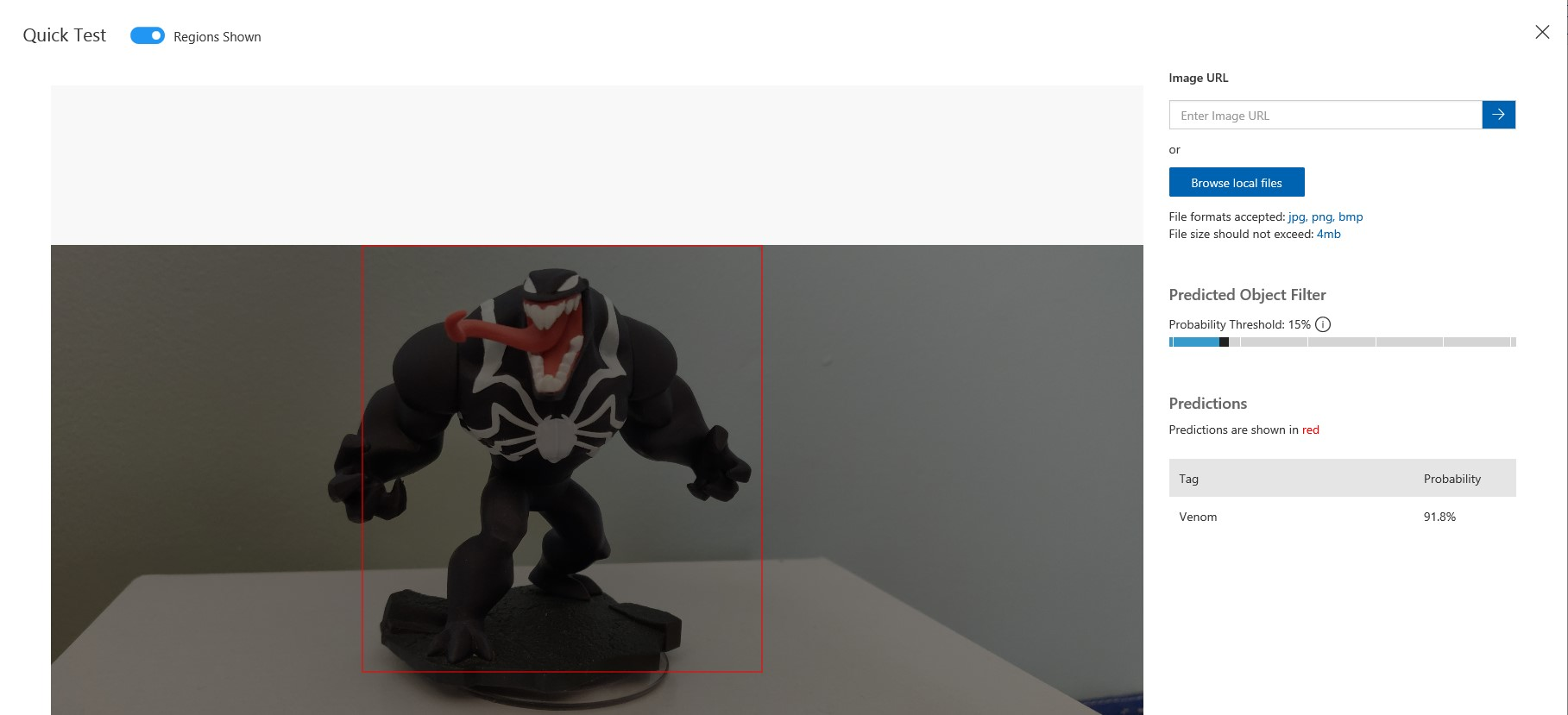 marvel custom vision test with venom toy