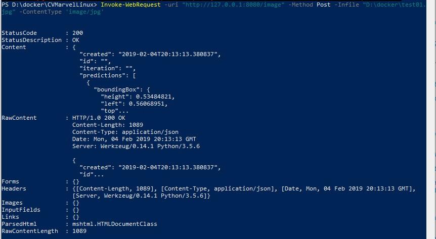 06 CV running and testing an image on docker