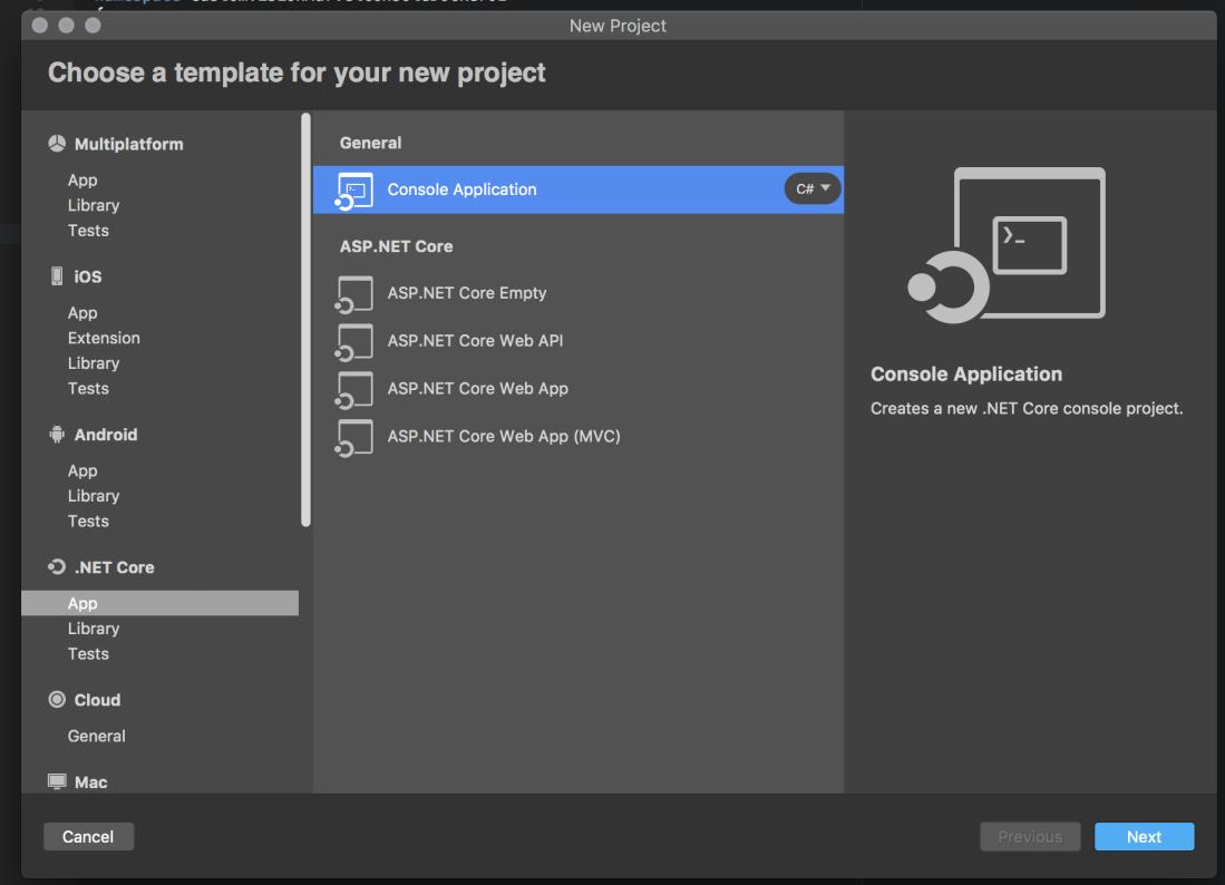 06 new netcore project in visual studio for mac