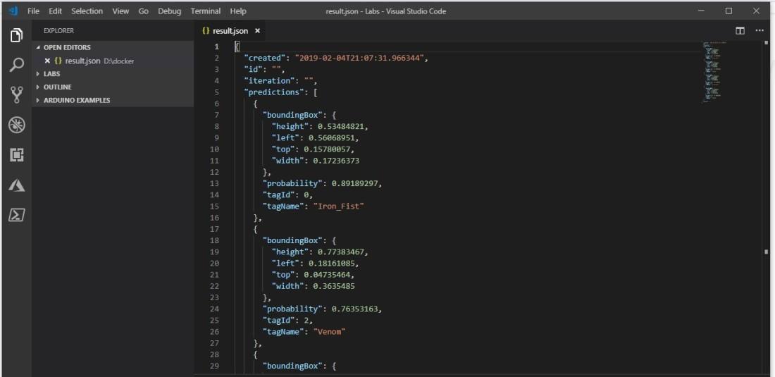 08 docker results in visual studio code