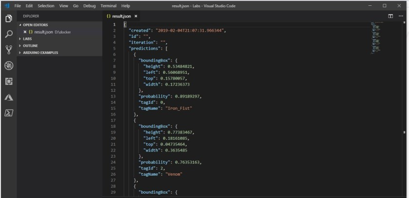 08 docker results in visual studio code