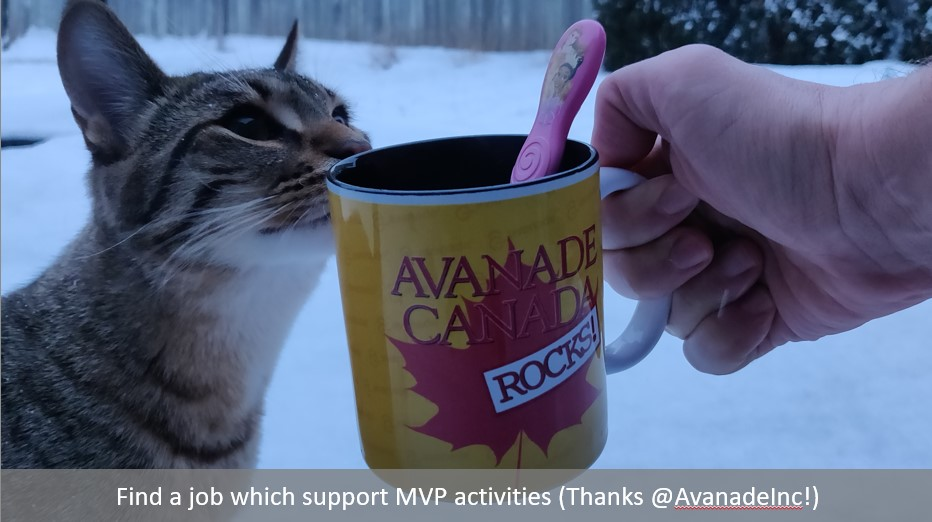 Job which supports MVP role, thanks Avanade
