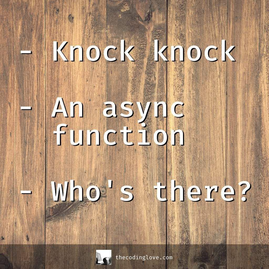 knock knock async function