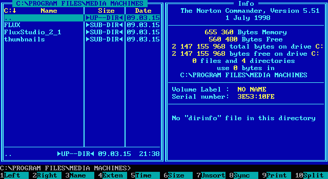 Norton Commander 5.51