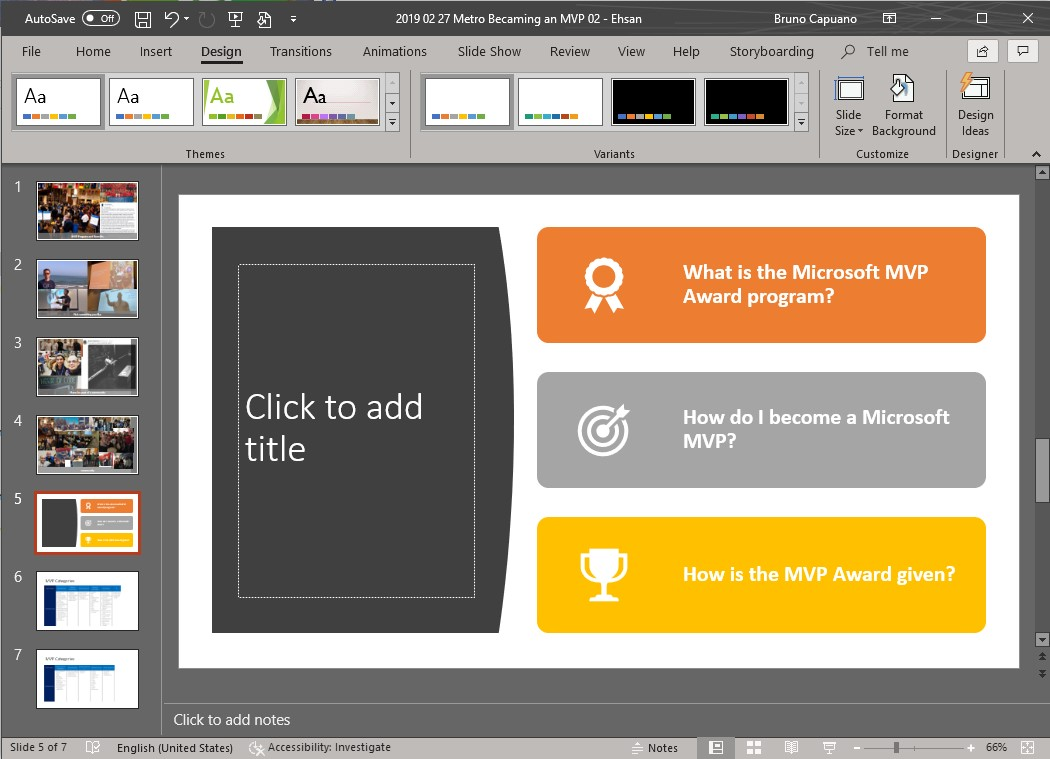 powerpoint slide updated