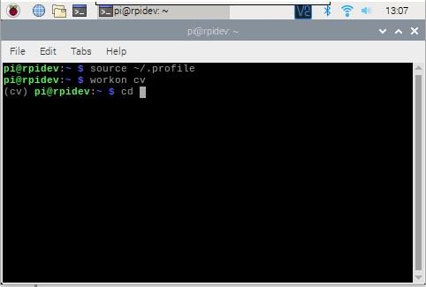 python source and cv on raspberry pi.