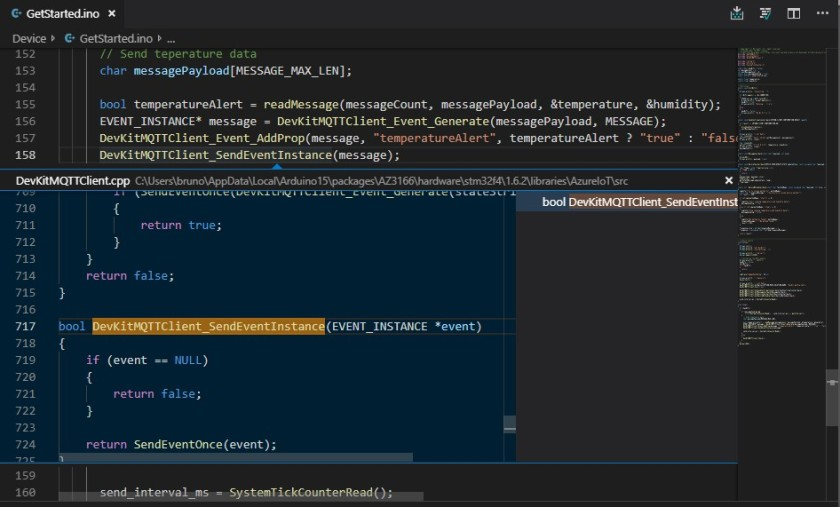 visual studio code c++ peek definition