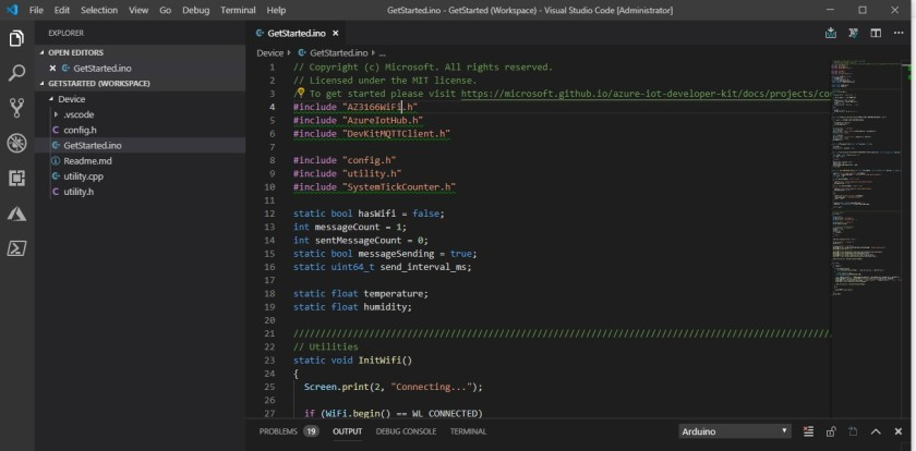 visual studio code mxchip get started cant find include errors