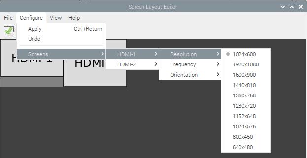 raspberry pi 4 screen configuration screens resolution