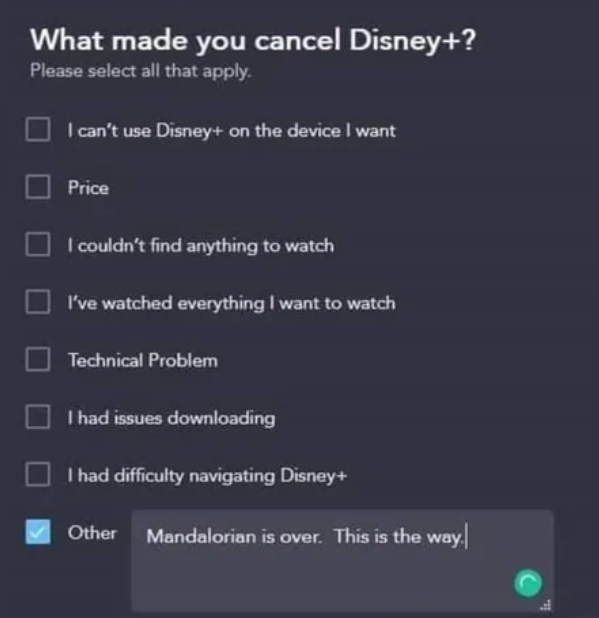 cancel disney plus