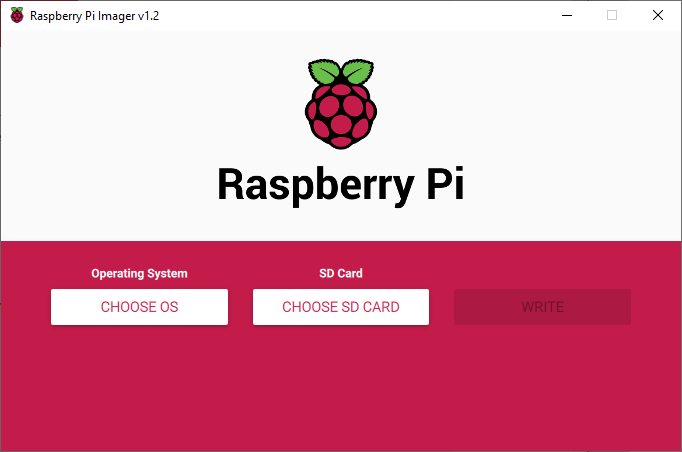 raspberry pi installer, welcome screeen