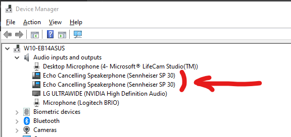 Audio Devices in Windows 10
